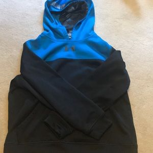 Under armour, blue and black youth XL hoodie